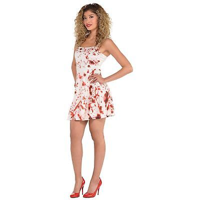 Womens Halloween Costumes (Womens Halloween Bloody Dress Costume Size 10-12 M Splatter Adult Fancy)