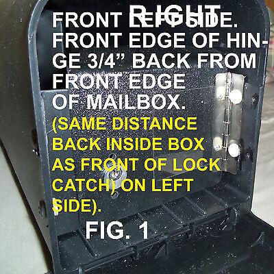 Locking Mailbox Insert For Your Medium Size Plastic Solar Group Or Gibralter .