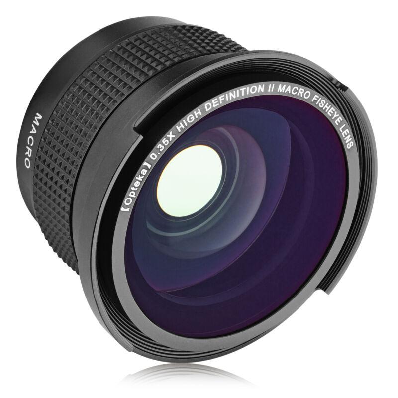 Opteka .35x Wide Angle Fisheye Lens Sony FDR-AX700 AX100 HXR-MC88 NX80 NX1000
