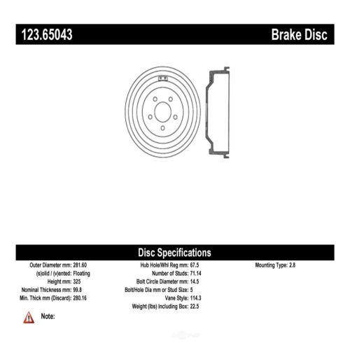 Rear Brake Drum For 2001-2002 Ford Explorer Sport Trac B473XZ