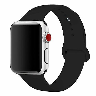 Apple Watch Silver Aluminium Nike+ 42mm Series 3 GPS & Cellular Black Silicone