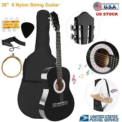 """38"""" Beginners Acoustic Guitar With Guitar Case, Strap, Tuner & Pick  Kids Gift"""