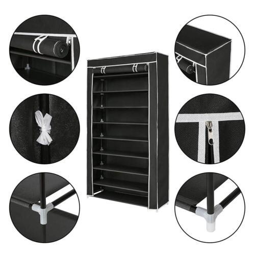 portable 10 tiers shoe rack shelf storage