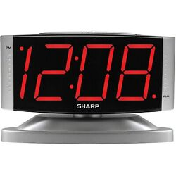 Digital Alarm Clock Snooze Large Display LED Loud Night Light Bedside Table NEW