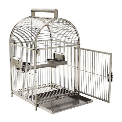 Portable Bird Cages Carrier Cockatiel Parrot Macaws Travel Cages Stainless steel