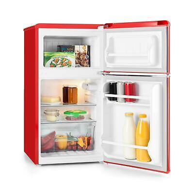 Frigorifero Piccolo Retro Mini Frigo Congelatore Rosso Combinato Classe A+ 85L