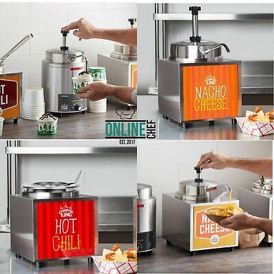3.5 Quart Electric Countertop Nacho Cheese Sauce Warmer Pump Dispenser 120 V