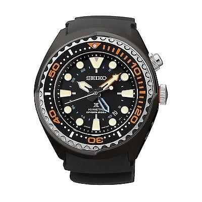 Seiko Men's SUN023P1 Prospex Kinetic GMT Divers Silicone Watch