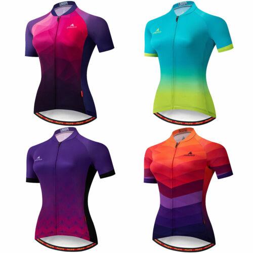 Miloto Women's Short Sleeve Cycling Jersey Full Zip Bike Cyc