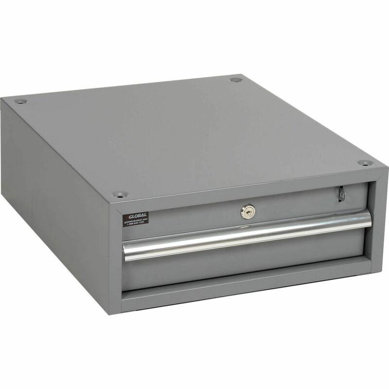 """Stacking Workbench Drawer, Gray, 6""""H"""