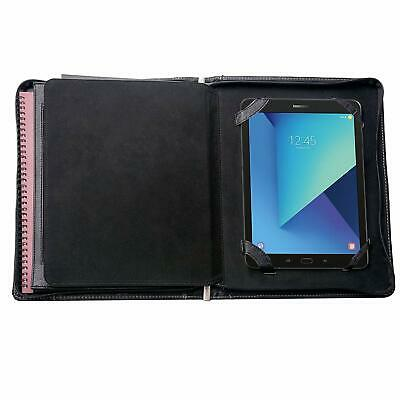 Leather Padfolio With Zipper Organizer Case For 9.7 Ipad Pro -c3-