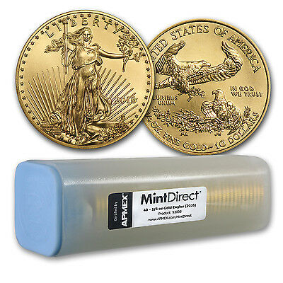 Click now to see the BUY IT NOW Price! 2016 1/4 OZ GOLD AMERICAN EAGLE 40 COIN MINTDIRECT TUBE