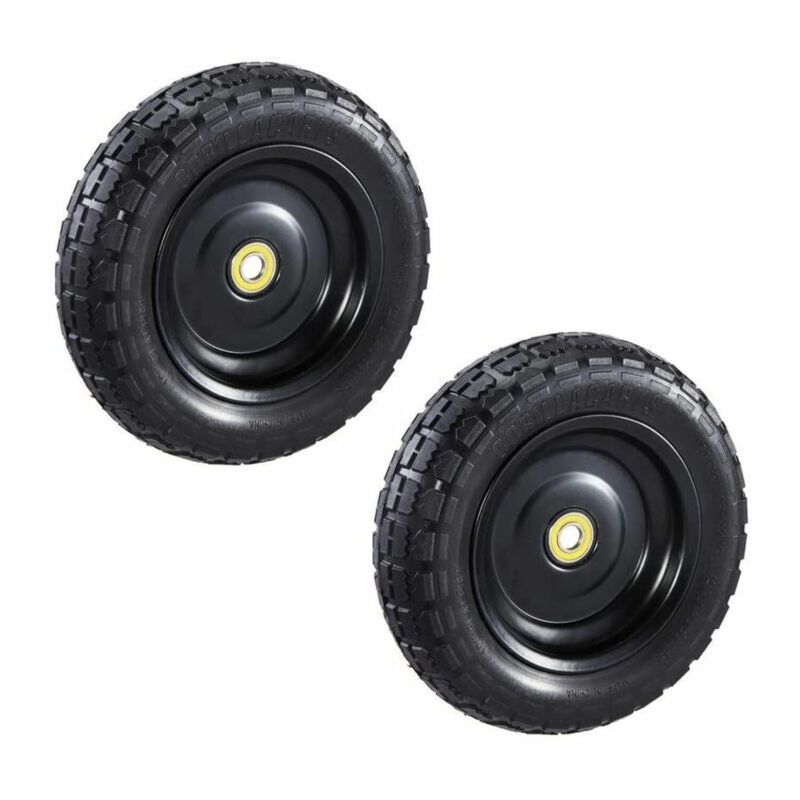 Gorilla Carts GCT-10NF 10 Inch No Flat Replacement Tire for Utility Cart, 2 Pack
