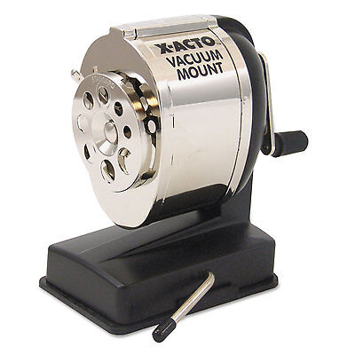 X-acto Ks Manual Vacuum Mount Classroom Pencil Sharpener Blackchrome 1072