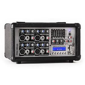 4-KANAL DJ PA STUDIO POWER MISCHER MISCHPULT 800W VERSTÄRKER USB SD MP3 PLAYER