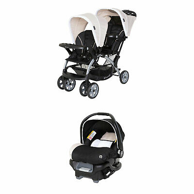 Baby Trend Sit N Stand Double Stroller with Baby Trend Ally 35 Infant Car Seat