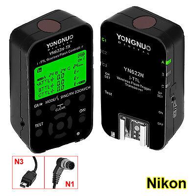 Yongnuo YN622N-Kit YN622N-TX+YN-622N E-TTL Funkauslöser Set Blitzauslöser Nikon