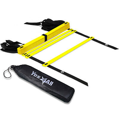 Yes4All Speed Agility Ladder 8 Rungs Football Exercise Workout with Carry Bag