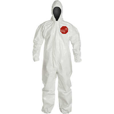 Dupont Tychem 4000 Superior Protection Coveralls With Hood L