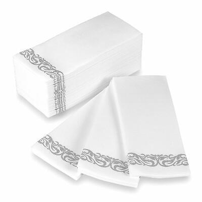 Decorative Disposable Hand Towels (Disposable Hand Towels and Decorative Bathroom Napkins , 100 Count,)
