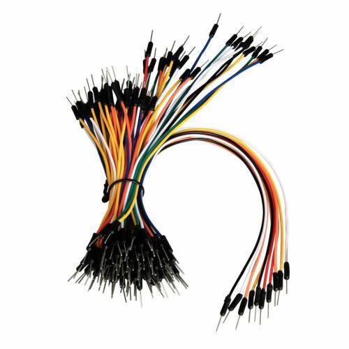 Electrical Flexible Breadboard Jumper Wires Copper Circuit Experiment M/M 100Pcs