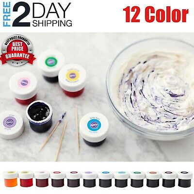 Gel 0.5 Ounce Jar - 12 Icing Colors Gel Set Wilton 0.5 oz Jar Multi Color Baking Cake Food Coloring