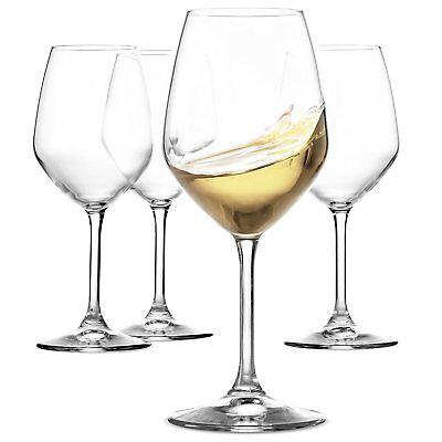 - Italian White Wine Glasses - 15 Ounce - Lead Free- Set of 4, Clear