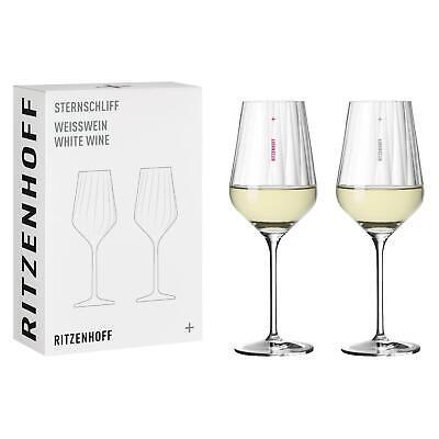2er Set Ritzenhoff Weißweingläser Sternschliff 01 transparent klar NEU 2021