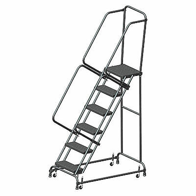 Ballymore Fsh618p Perforated 16w 6 Step Steel Rolling Ladder 14d Top Step