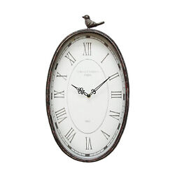 Stratton Home Decor Antique Oval Wall Clock SHD0009