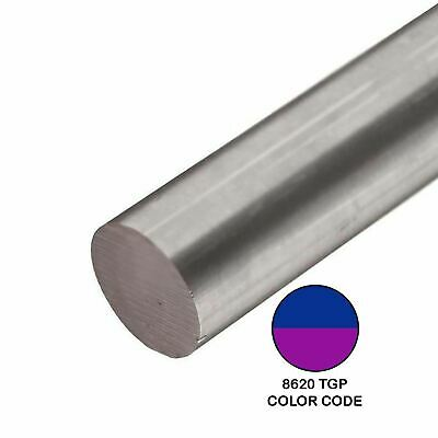 8620 Tgp Alloy Steel Round Rod 0.760 Inch X 24 Inches