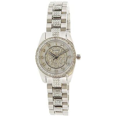 Bulova Women's Crystal 96L253 Silver Stainless-Steel Quartz Dress Watch