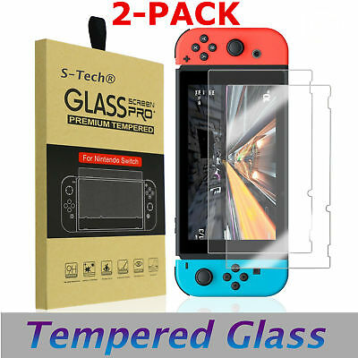 Nintendo Switch Premium Tempered Ultra Clear Glass Screen Protector (2 Pack)