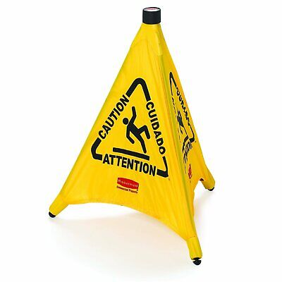 Rubbermaid Caution Nylon Pop-up Safety Cone 21 L X 21 W X 20 H