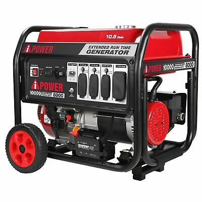 A-ipower Portable Generator With Electric Start10000 Watt Starting Power