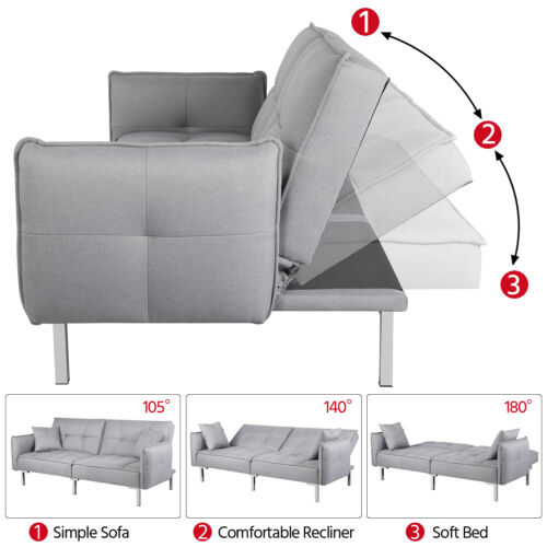 Convertible Sleeper Sectional Couch Daybed Pull Out Bed
