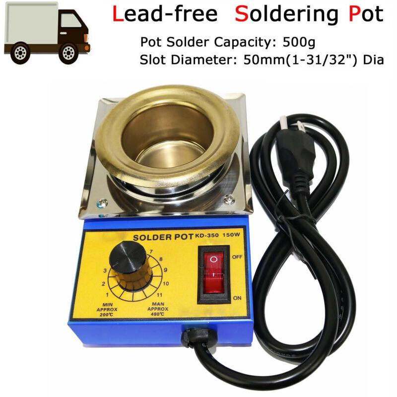 Lead-Free Solder Soldering Pot Desoldering Bath Titanium 500G Capacity 110V/220V
