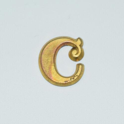 "Original Brass Zouave-Style Letter ""C"" Hat Insignia - Civil War Era"