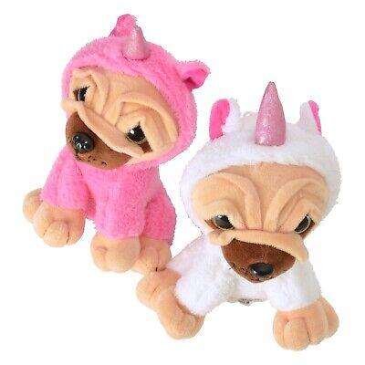 Mops in rosa Stofftier Mops-Einhorn Plüschtier Kostüm  (Mops Einhorn Kostüm)