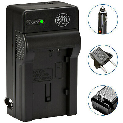 BM Premium Battery Charger for Canon Vixia HFM301, HFM40, HFM41, HFM400, HFS30