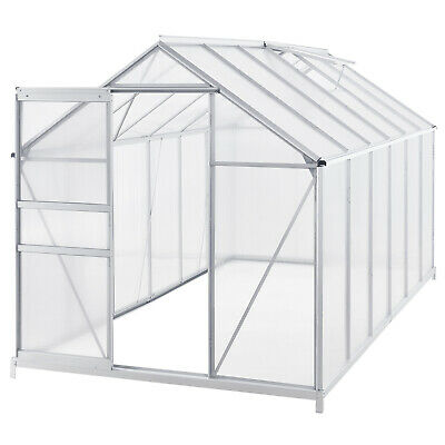 Gewächshaus Treibhaus Pflanzenhaus 7m² Fundament Aluminium Frühbeet Juskys®