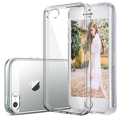Handyhülle für iPhone 5 5S SE Case Slim Schutz Cover Silikon Transparent