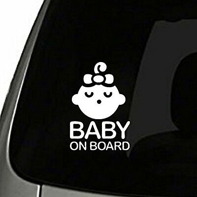 Girl Baby on Board Sticker Decal Safety Caution Sign for Car Window