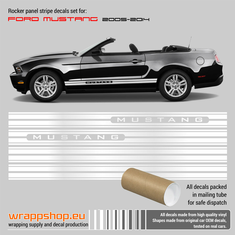 Ford Mustang 2005-2014 Rocker Panel Stripes Design #1