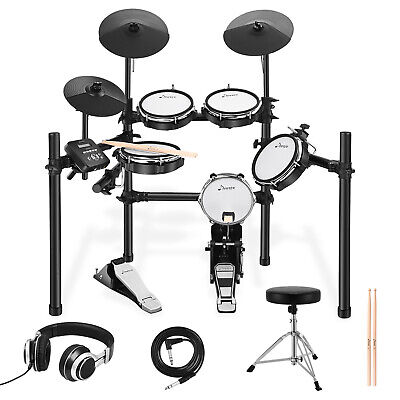 Donner Electric Drum Kit 12-inch silicone cymbal 225 Timbre 30 Demo Song Set US