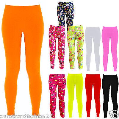 Leggings Für Mädchen (Kinder Leggings Stretch Hose für Mädchen Leggins Strumpfhose 98-122 128-152 Neu)
