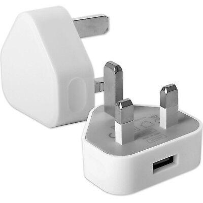 USB WALL CHARGER MAINS PLUG ADAPTER FOR MOBILE PHONE X 8 PLUS 7 6 5 IPOD IPAD - Ipod Mobile Charger