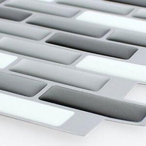 MUSTER Selbstklebende Vinyl Mosaik Fliesen 3D Silber Grau Mix