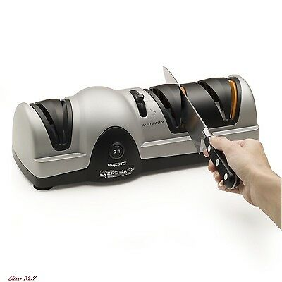 Electric Knife Sharpener Hunting Best Kitchen Perfect Professional System New
