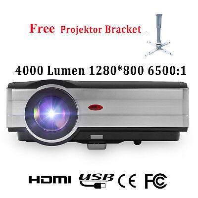 EUG HD 1080p 4000lms LED Heimkino Beamer LCD Video Projektor HDMI*2 1280x800 DE